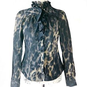 Zara woman long sleeve blouse